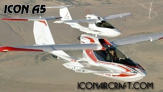 ICON A5, Icon Aircraft Pilot Report and A 5 Aircraft Review.