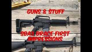 SBA3 Tactical Brace First Impressions