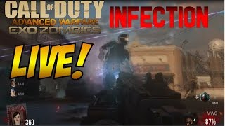 Exo Zombies Infection Easter Egg + High Round Livestream, Advanced Warfare DLC 2