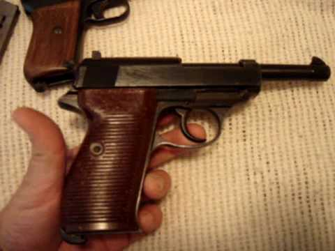 WW2 pistol collection ( P-08 Luger. Walther P-38. Mauser model 1914. 1911-A1 )