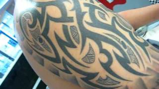 Tribal & eagle tattoo