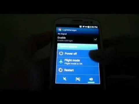 Light Manager - Notification LED Settings for Samsung Galaxy SIII