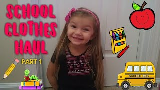 School clothes haul | part 1 | Getting ready for preschool!