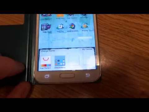 Changing Themes On My Samsung Galaxy S5 Using Dodol Launcher. video