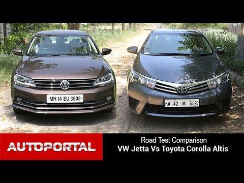 Volkswagen Jetta Vs Toyota Corolla Altis Test Drive Comparison- Auto Portal