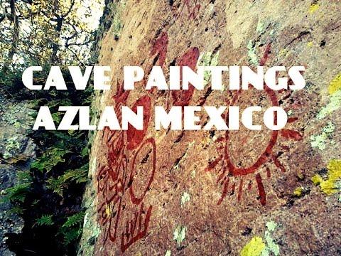 ALIEN CAVE PAINTINGS  AZTLAN MEXICO.