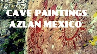 ALIEN CAVE PAINTINGS  AZTLAN MEXICO.