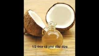 Mask dưỡng môi từ dầu dừa nguyên chất và mật ong