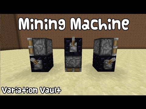 minecraft how to make an automatic mining machine