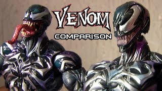 Venom Play Arts Kai - Authentic vs Bootleg Comparison / Unboxing