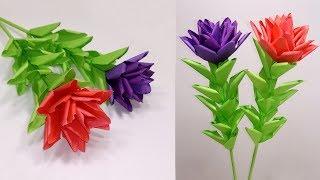 Paper Flowers: Paper Stick Flower Idea for Home Decoration   Easy Handcraft   Abigail Paper Crafts