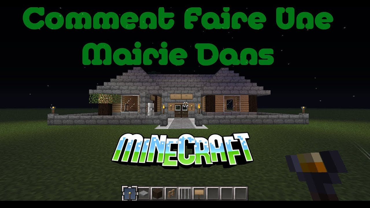 minecraft comment faire une mairie youtube. Black Bedroom Furniture Sets. Home Design Ideas