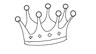 easy kids drawing lessons how to draw cartoon crown