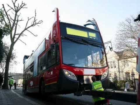 Bus Crash in Camden A Bus looses its roof in the  London Area