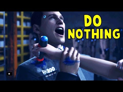 Do Nothing When Fighting the Traci - Detroit Become Human HD PS4 Pro
