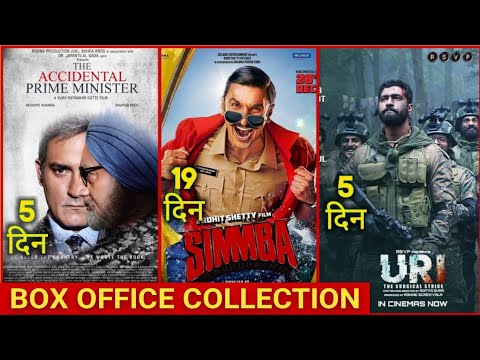 Box Office Collection Of URI vs Simmba Vs The Accidental Prime Minister | URI Box office Collection