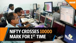 Nifty crosses 10,000 mark for the first time