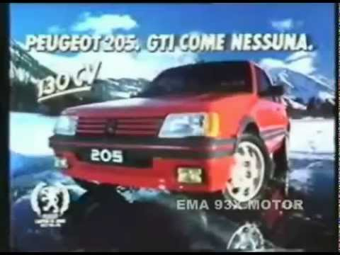 peugeot 205 gti spot del 1986 youtube. Black Bedroom Furniture Sets. Home Design Ideas