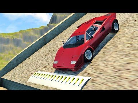 BeamNG Drive SPIKE STRIP HIGH SPEED CRASHES #78