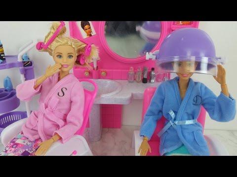 Elsa Anna Barbie Hair Salon Toy Monsterhigh doll Haircut Epi. Barbie Salão de Beleza Brinquedo