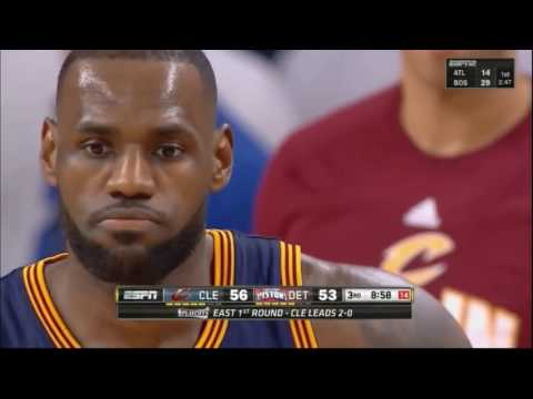 Detroit Pistons' dirty plays on LeBron James (Drummond, Morris)