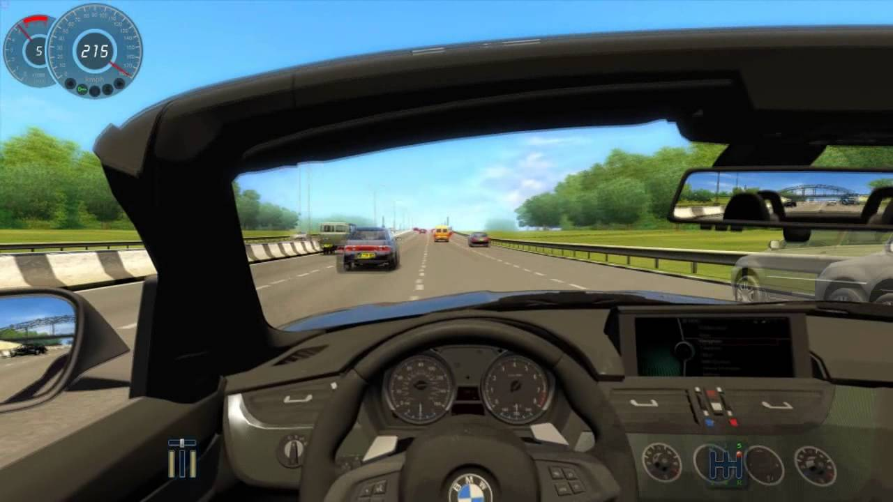 Bmw Z4 Sdrive28i Fast Driving On City Car Driving