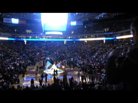Golden State Warriors vs Houston Rockets (Intro) Oracle Arena in Oakland Martch 8, 2013