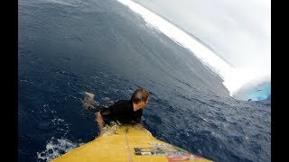 Watch: Monster Cloudbreak Swell from the Paddle Perspective