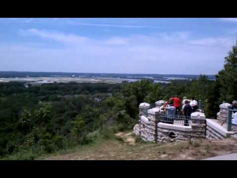 Missouri River flooding 6/24/2011 just north of Council Bluffs IA at Lewis & Clark Monument.