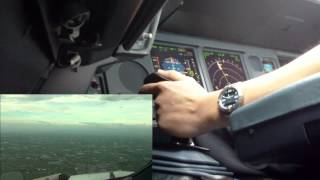 Cockpit View - TPE Windy and Gusty Approach and Landing
