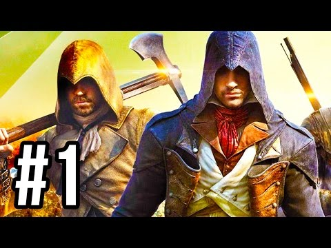 Assassin's Creed Unity Co-Op Gameplay #1 - THE GREAT MISTAKE!! (Mission 1 PS4/XB1 1080p HD)