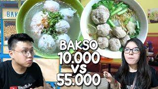 BAKSO Rp 55.000 VS RP 10.000 !!