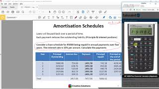 Financial Calculator - HP10B II Plus Loan Amortization