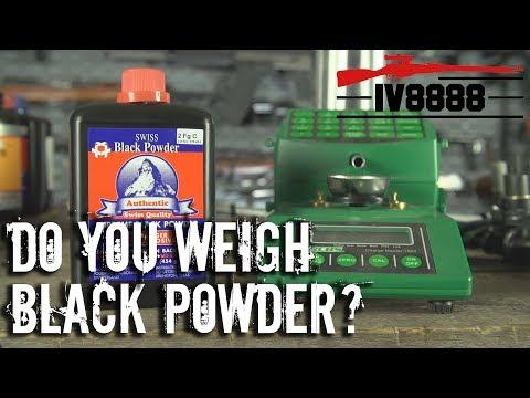 Do You Weigh Black Powder?