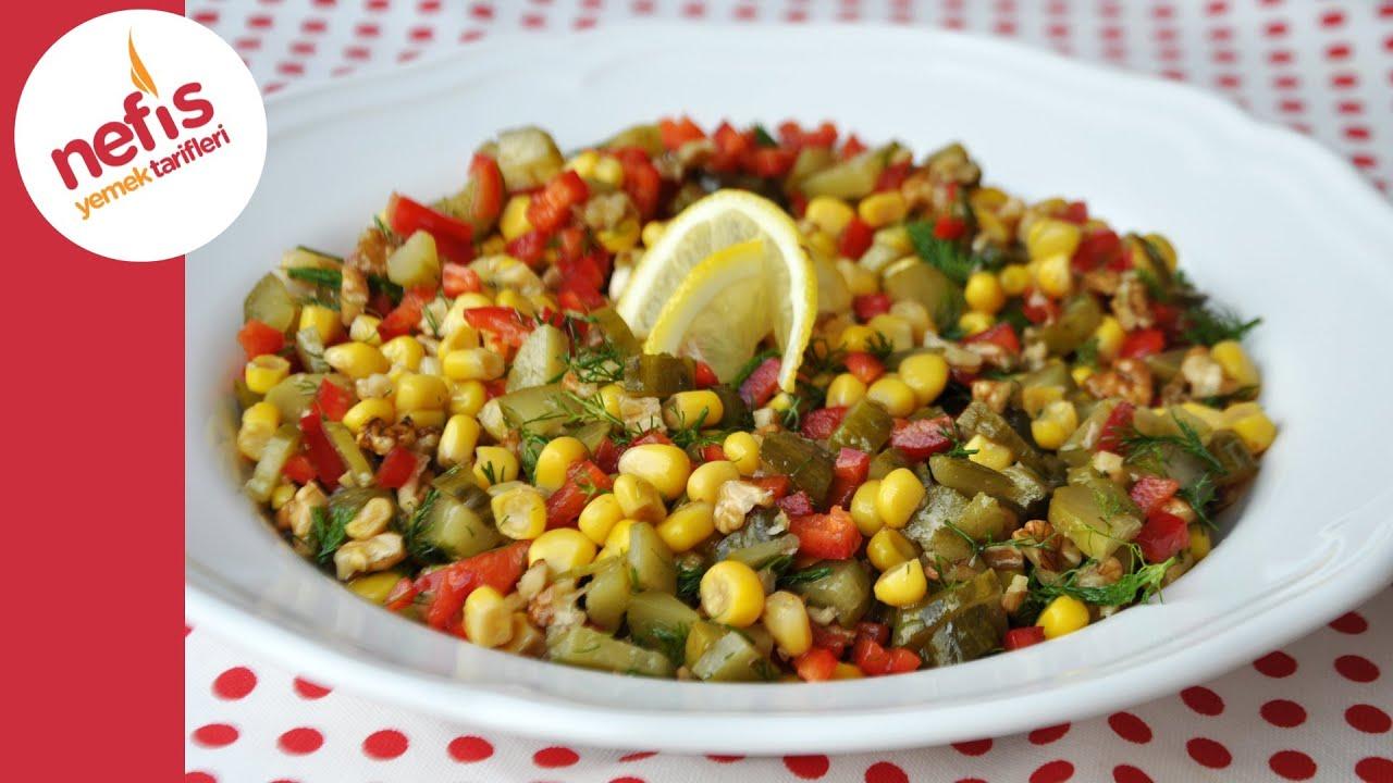 Dereotlu Cevizli Salata Nefis Yemek Tarifleri YouTube