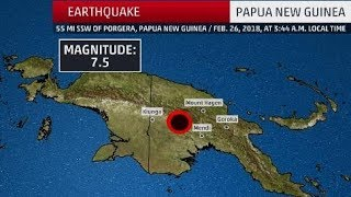 Papua New Guinea hit by 7.5 earthquake - Lassen Volcanic National Park Rumbles