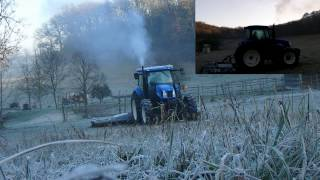 Tractor Cold start New Holland TS100A HD Diesel Start-up
