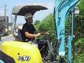 ミニバックホー搭載型草刈機
