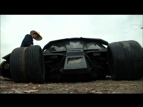 Man builds his own Batmobile
