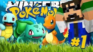 Minecraft: POKEMON!! #1 - THE FIRST TRAINER!!!