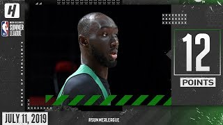 Tacko Fall Full Highlights Celtics vs Grizzlies (2019.07.11) Summer League - 12 Pts, 4 Blocks!