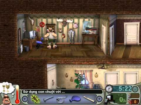 Neighbours From Hell 1 ( Người Hàng Xóm 1 ) - Màn 4 Tập 4 END ( Game Việt Hóa )