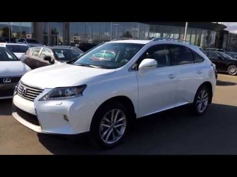 2015 White Lexus RX 350 AWD Technology Package Review - Executive Demo / Lexus of Edmonton