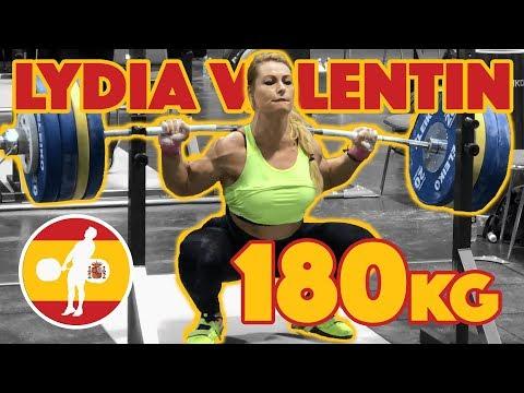 Lydia Valentin Heavy Training Part 2/5 (105kg Snatch Double 180kg Squat Double) - 2017 WWC [4k 60]