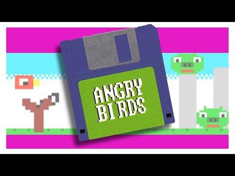 Angry Birds como si fuera un videojuego de mediados de los 80