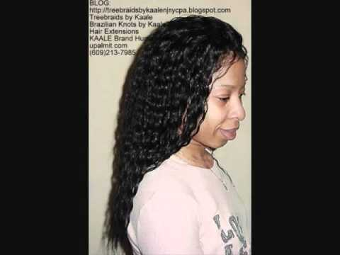 Crochet Hair Tangle Free : ... 100% Human Hair for Sale- Wavy Wet n Wavy Tangle Free - YouTube