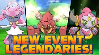 Pokémon X and Y - New Event Legendary Pokémon: Diancie, Hoopa and Volcanion