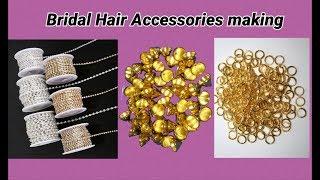Bridal hair accessories making at home