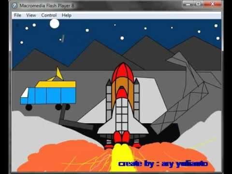 peluncuran pesawat ulang alik animasi.flv
