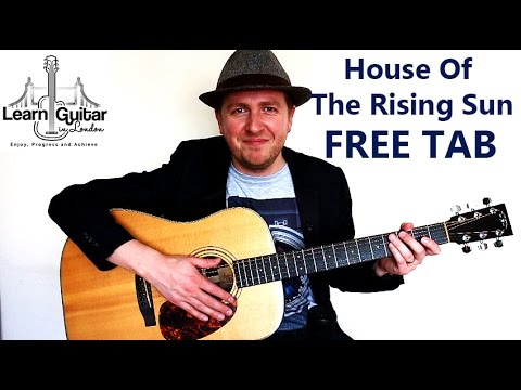 House Of The Rising Sun - Easy Fingerstyle Guitar Tutorial - FREE TAB